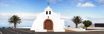 Chapel On A Hill, Tiagua, Lanzarote Poster by Panoramic Images