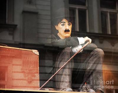 Chaplin In Prague Poster by John Rizzuto