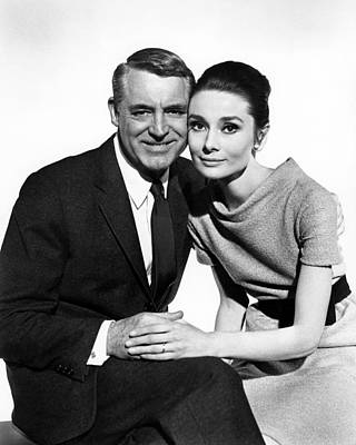 Charade Cary Grant Audrey Hepburn Poster by Silver Screen