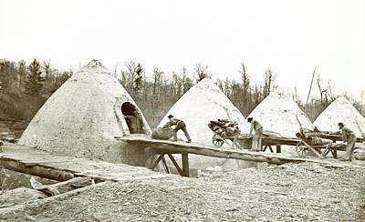 Charcoal Ovens Poster by Hagley Museum And Archive