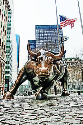 Charging Bull 3 Poster by Nishanth Gopinathan