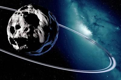 Chariklo Minor Planet And Rings Poster by Detlev Van Ravenswaay