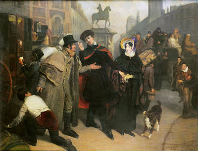 Charing Cross, 1832 Oil On Canvas Poster by James Holmes