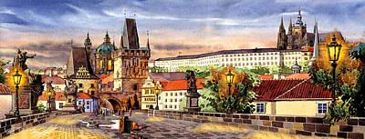 Charles Bridge Castle Vita Poster by Dmitry Koptevskiy