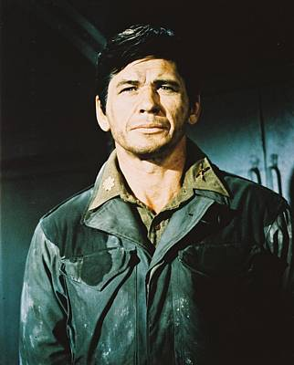 Charles Bronson In The Dirty Dozen Poster by Silver Screen