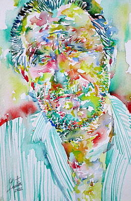 Charles Bukowski Portrait.2 Poster by Fabrizio Cassetta