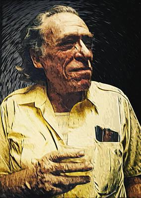 Charles Bukowski Poster by Taylan Soyturk
