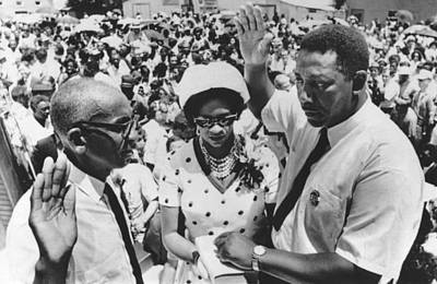 Charles Evers Becomes Mayor Poster by Underwood Archives