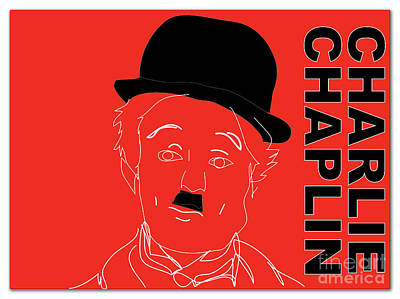 Charlie Chaplin Poster by Marvin Blaine