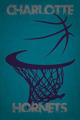Charlotte Hornets Hoop Poster by Joe Hamilton