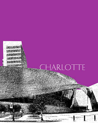 Charlotte Nascar Hall Of Fame - Plum North Carolina Poster by DB Artist
