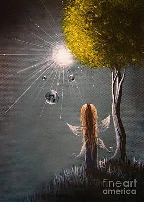 Little Fairy Art By Shawna Erback Poster by Shawna Erback