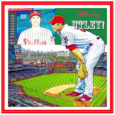 Chase Utley Poster Utterly Utley Poster by A Gurmankin