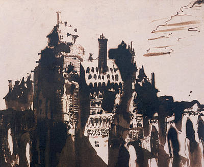 Chateau Fortified By Two Bridges Poster by Victor Hugo