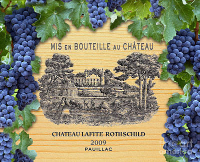 Chateau Lafite Rothschild  Poster by Jon Neidert