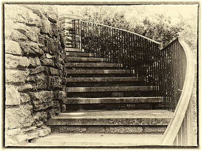 Cheekwood Stairs Cropped Poster by Mark Furnell