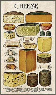 Cheese Lovers Panel  1907 Poster by Daniel Hagerman