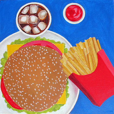 Cheeseburger Poster by Toni Silber-Delerive