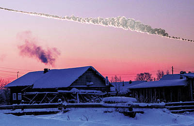 Chelyabinsk Asteroid Poster by Sandia National Laboratories
