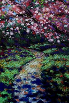 Cherry Blossom Walk  Poster by John  Nolan