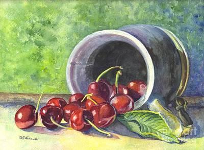 Cherry Pickins Poster by Carol Wisniewski
