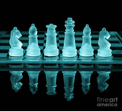 Chess Board Poster by Amanda Elwell