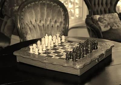 Chess Game Poster by Cynthia Guinn