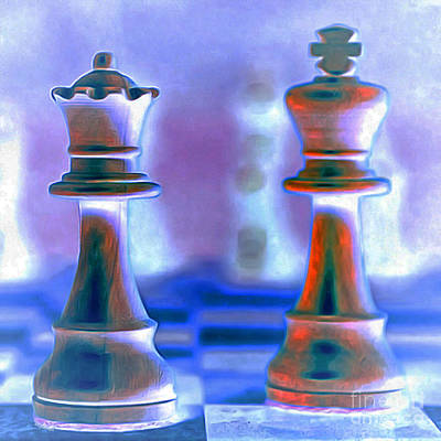 Chess King And Queen 20140918 Poster by Wingsdomain Art and Photography