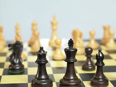 Chess Match Poster by Tek Image