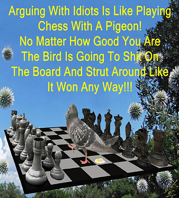 Chess Pigeon Poster by Eric Kempson