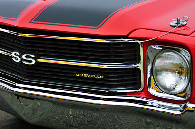 Chevrolet Chevelle Ss Grille Emblem Poster by Jill Reger