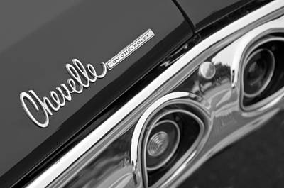 Chevrolet Chevelle Ss Taillight Emblem Poster by Jill Reger