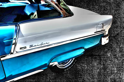 Chevy Bel Air Art 2 Tone Side View Art 1 Poster by Lesa Fine