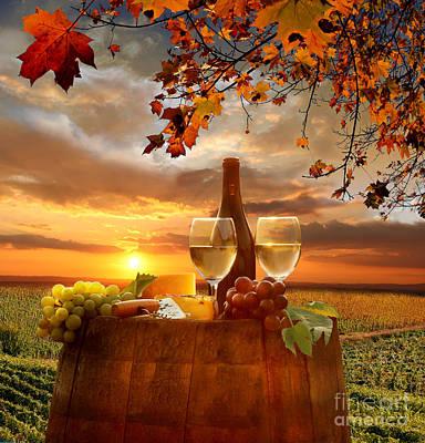 Chianti Vineyard In Italy Poster by Tomas Marek