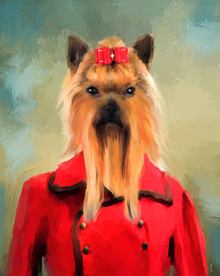Chic Yorkshire Terrier Poster by Jai Johnson