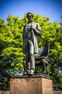 Chicago Abraham Lincoln The Man Standing Statue  Poster by Paul Velgos