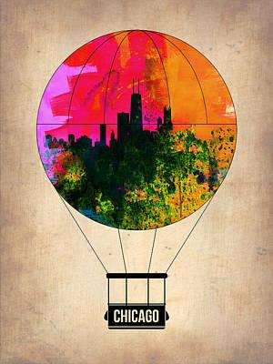 Chicago Air Balloon Poster by Naxart Studio