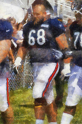 Chicago Bears G Matt Slauson Training Camp 2014 Photo Art 02 Poster by Thomas Woolworth