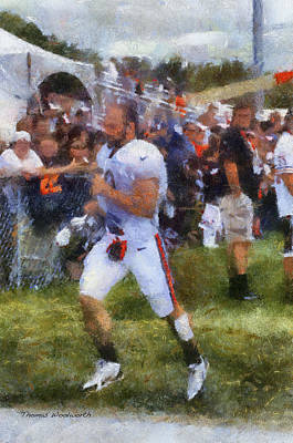 Chicago Bears Lb Jordan Senn Training Camp 2014 Photo Art 02 Poster by Thomas Woolworth