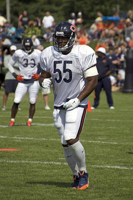 Chicago Bears Lb Lance Briggs Training Camp 2014 01 Poster by Thomas Woolworth