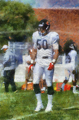 Chicago Bears Lb Shea Mcclellin Training Camp 2014 Photo Art 02 Poster by Thomas Woolworth