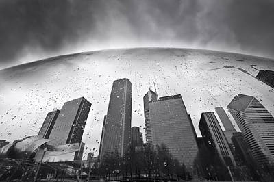 Chicago Black And White Photography Poster by Dapixara Art