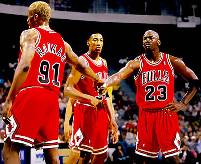 Chicago Bulls Big 3 Poster by Brian Reaves
