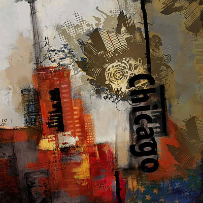 Chicago Collage Poster by Corporate Art Task Force