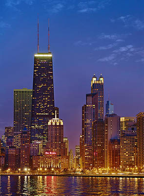 Chicago From North Avenue Beach Poster by Donald Schwartz