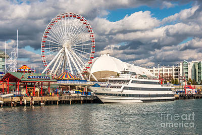 Chicago Navy Pier Photo Poster by Paul Velgos