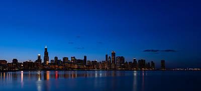 Chicago Night Poster by Steve Gadomski
