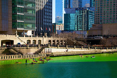The Chicago River On St. Patrick's Day Poster by Art Spectrum