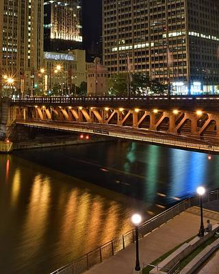Chicago River Walk Poster by Frozen in Time Fine Art Photography