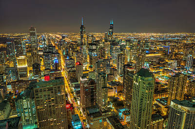 Chicago Skyline Poster by Chris Martin